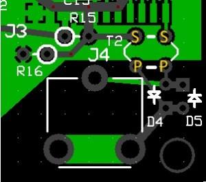 impronta componenti circuito di ingresso antenna