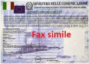 patente fax simile